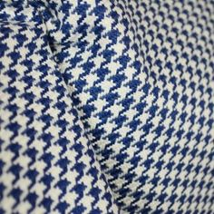 D2922 Houndstooth Navy Blue Fabric
