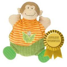 Mary Meyer Mango Monkey Wooby Chew Activity Teether Rattle Crinkle Plush Toy | eBay