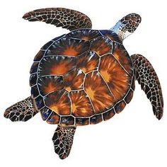 PORC-BT10-10 Brown Turtle Custom Mosaics