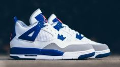 super popular 34401 5d97d Air Jordan 4 (VI) Retro Girls White Deep Royal Blue Wolf Grey Hyper Orange  Knicks 487724-132