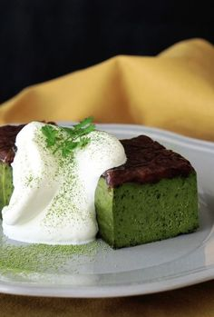 MATCHA GREEN TEA, WHITE CHOCOLATE & ADZUKI BEAN TERRINE [tastemade] [asia pacific dessert]