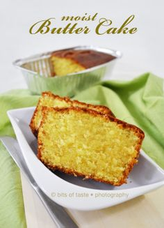 The smell of freshly baked butter cake has filled my house after having the desire to bake butter cake again few days ago. Butter cake is m. Dessert Salads, Fun Desserts, Baking Recipes, Cake Recipes, Dessert Decoration, Yummy Cakes, Beautiful Cakes, Vanilla Cake, Appetizer Recipes