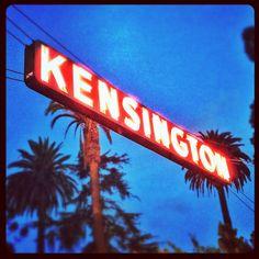 kensington neon sign / san diego