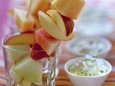 Fruit Skewers with Pistachio Mascarpone Cream Recipe on Yummly. @yummly #recipe