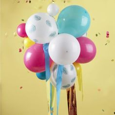 Multicoloured and Palm Print Party Balloon Chandelier – The Original Party Bag Company