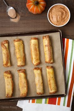 Pumpkin Cheesecake French Toast Roll Ups with Pumpkin Spice Dipping Sauce #SundaySupper