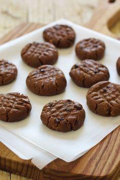Cinco Quartos de Laranja: Cookies de manteiga de amendoim com chocolate