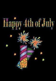 Happy 4 Of July, 4th Of July, Symbols, Letters, Holiday, Red, Blue, Vacations, Independence Day