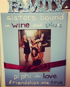 Adorable Pi Phi picture frame craft DIY