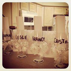 Homemade Bridesmaids Gifts :)) Paint on and bake!