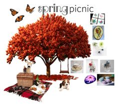 """Spring Picnic"" by glassdreamshawaii ❤ liked on Polyvore featuring art"