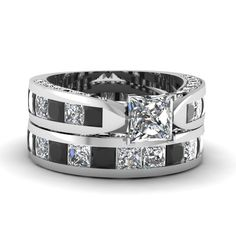 white-gold-princess-white-diamond-engagement-wedding-ring-with-black-diamond-in-channel-pave-set-FDENS304PRGBLACK-NL-WG