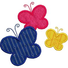 Butterflies Applique by HappyApplique.com
