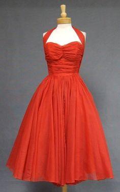 1950s Halter dress by juanita