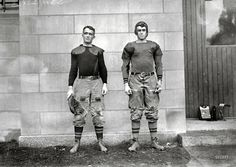 """""""West Point football players Charles Love Mullins Jr. and Joseph Pescia Sullivan, 1913.    Mullins survived both the First and Second World Wars, ascending to the position of Major General of the U.S. Army and living to the ripe old age of 84. Sullivan also became a Major General and died at the age of 83."""""""