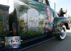 Julie and Dave Vinnedge restored this 1951 truck in honor of their son, Lance Cpl. Phillip David Vinnedge, who died while serving in Afghanistan. It was on display in West Valley City on Sept. 11. (Steve Griffin | The Salt Lake Tribune)