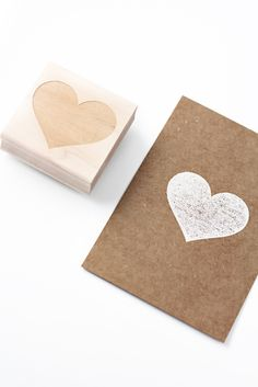 Image of NEW! BIG HEART STAMP So simple and cute. stamp de corazón grande para tarjeta.