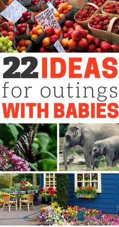 Discover fun outings with baby for your first year of motherhood. Providing different kinds of stimulation and environment is extremely beneficial for baby's development. Discover these 22 places and watch your baby grow into a little explorer! Pack up some snacks and go have some family fun!