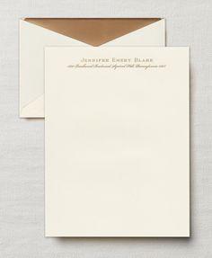 Hand Engraved Ecru Lettersheets
