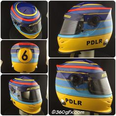 """PDLR - Pontus Wedlund new F1 inspired helmet, Martini/Williams stripes on top and Hakkinen themed lines on sides, here are the final result...thanks for choosing me as your helmetpainter. #PDLR #PontusWedlund #martini #martiniracing #hakkinen #häkkinen #helmetpaint #glasurit #BASFRefinish #360gfx_com #tesa #jtape #iwata #fetgo"" Photo taken by @360gfx_com on Instagram, pinned via the InstaPin iOS App! http://www.instapinapp.com (09/01/2015)"
