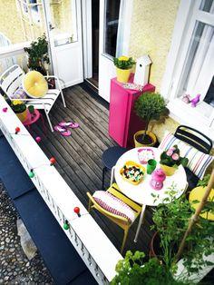 Colorful balcony
