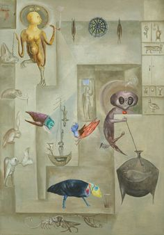 Leonora Carrington, Sanctuary for Furies, 1974, oil on canvas, Courtesy of Gallery Wendi Norris