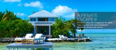 Cayo Espanto Private Island Resort off the coast of Belize with six luxery private villas and one overwater bungalow