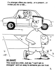 stranger safety coloring page   Printable Coloring Pages: Stranger Safety Coloring Sheets
