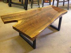 Wood Coffee Tables - Live Edge Table - Live Edge Coffee Table - Wood Slab Table - Live Edge Slab Coffee Table - Sofa Table - Black Walnut