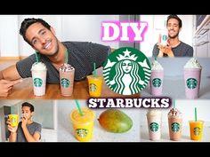DIY Original STARBUCKS DRINKS REZEPTE für zu HAUSE! in 5 Minuten| Sami Slimani - YouTube