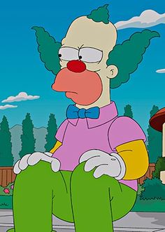 Krusty the Clown Simpsons Party, The Simpsons, Krusty Der Clown, Es Der Clown, Simpsons Characters, Picture Mix, American Dad, Black Girl Art, 90s Cartoons