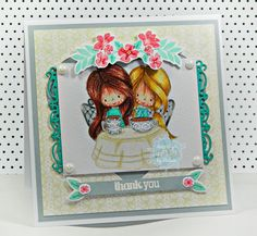 RL Design - Invitatii si felicitari Handmade : Thank You - Tiddly Inks Handmade Card