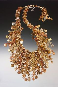 Hand Needle Woven Sculptural Beaded Neckpieces by Mary Darwall featured EyeCandy in Bead-Patterns.com Newsletter. Check it out for featured FREE Patterns, EyeCandy, supplies and more!