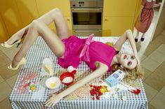 Caroline Trentini inHome Works(Vogue Italia, March 2008), photographed by Miles Aldridge