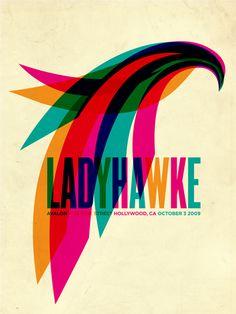 FYI Monday Aaron Gresham Ladyhawke Gig Poster