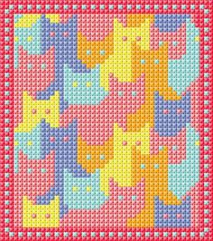 Cat Cross Stitches, Cross Stitching, Cross Stitch Embroidery, Dishcloth Knitting Patterns, Crochet Patterns, Loom Patterns, Cross Stitch Designs, Cross Stitch Patterns, Cross Stitch Calculator