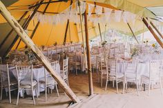 Tent decorated for a Rustic Inspired and Humanist Handfasting Ceremony | Love My Dress® UK Wedding Blog