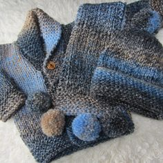 Hand Knitted Baby Set by jayceeoriginals on Etsy, $35.00