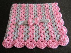 baby girl gift set crochet baby blanket by DonnasPinsandNeedles