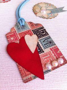 Valentine - Valentine - Scrapbook - ornaments of paper - Paper Embellishment - Tags - tag - handmade - Handmade - Stylo Vintage by TresTulipanesRojos on Etsy https://www.etsy.com/listing/220799543/valentine-valentine-scrapbook-ornaments
