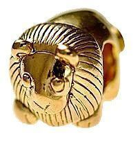 King Lion Charm European Bead Jewelry 24KT Gold Plated | eBay