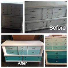 Paint my dressers! I have almost an identical set I could do this to.
