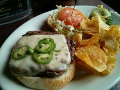 Ring of Fire burger @ Sally's Saloon and Eatery