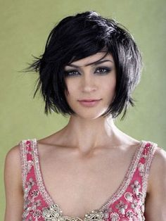 Short Hairstyles for Oval face for Girly Black Hair