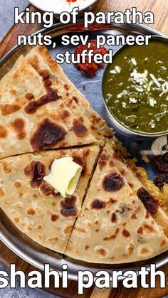 shahi paratha recipe | shahi paneer paratha | dry fruit stuffed paratha with detailed photo and video recipe. perhaps one of the premium and rich stuffed paratha recipes made with wheat flour & a combination of dry fruits. it is basically an improvised version of the aloo paratha with extra toppings of sev, paneer and dry fruits. it is an ideal packed and loaded meal that can be easily served to lunch and dinner without any extra side dish requirements. Curry Recipes, Wine Recipes, Indian Food Recipes, Easy Cookie Recipes, Snack Recipes, Cooking Recipes, Paratha Recipes, Vegetarian Snacks, Indian Breakfast