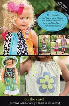 Easy to make and fun to wear, fashion can be oh-so-adorable in these bright and breezy pillowcase dresses!