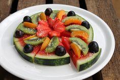 Wassermelonen-Pizza | Projekt: Gesund leben | Ernährung, Bewegung & Entspannung