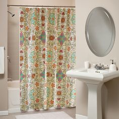Esprit Spice Print Shower Curtain   Overstock.com...I think I like this better for the kids bathroom!