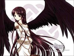 anime girl with wings and a sword   Image of woman in her dreams (herself in her true form, though this ...
