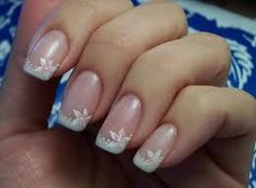 The reverse french manicure or half moon manicure